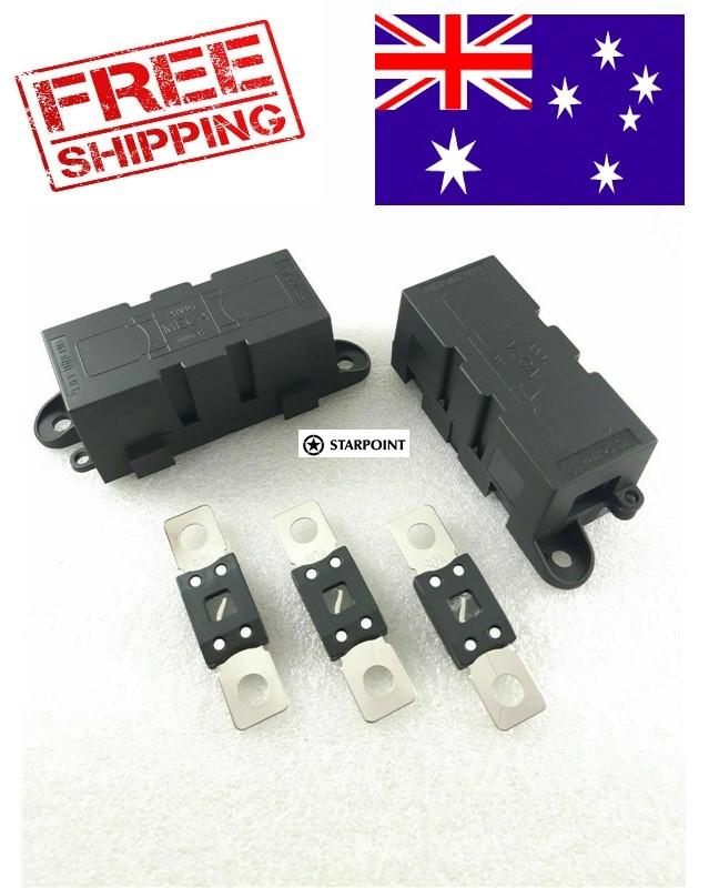 Starpoint Mega Fuse Holder Kit 80 Amp For Dual Battery Systems Inverter 2 X Holder 3 Fuse